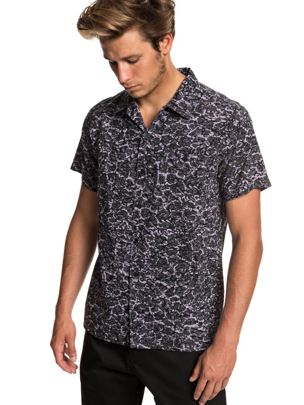 0 The Camp - Short Sleeve Shirt for Men Black EQYWT03796 Quiksilver