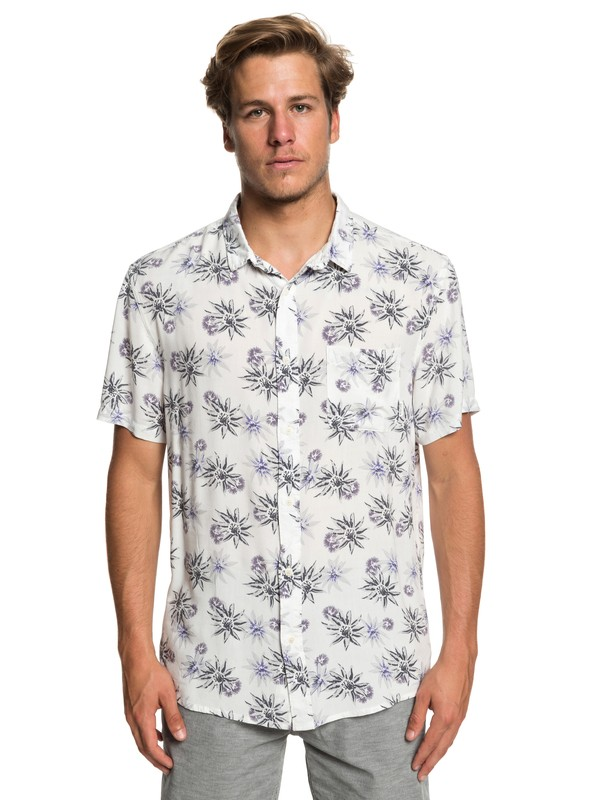 0 Fluid Geometric Short Sleeve Shirt White EQYWT03798 Quiksilver