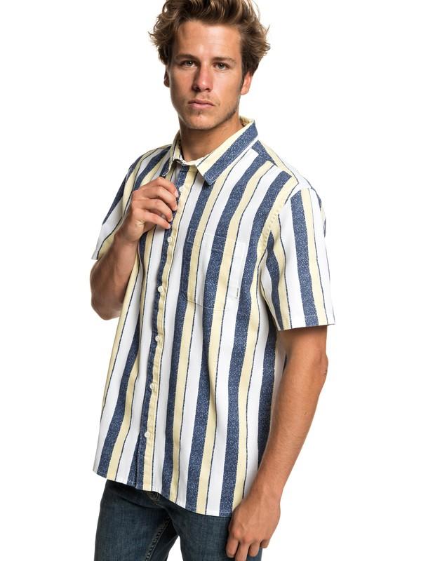 0 Cisco Inferno - Short Sleeve Shirt for Men Blue EQYWT03799 Quiksilver
