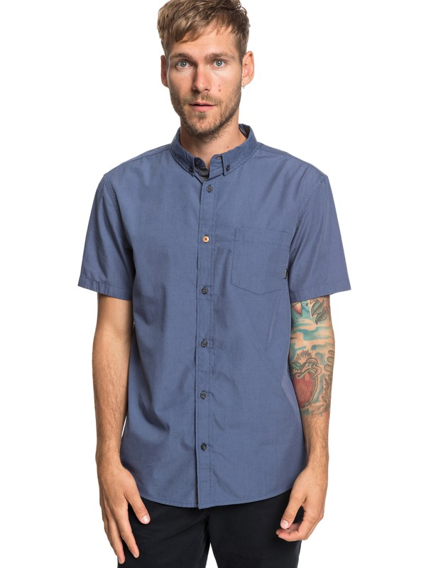0 Valley Groove Short Sleeve Shirt Blue EQYWT03809 Quiksilver