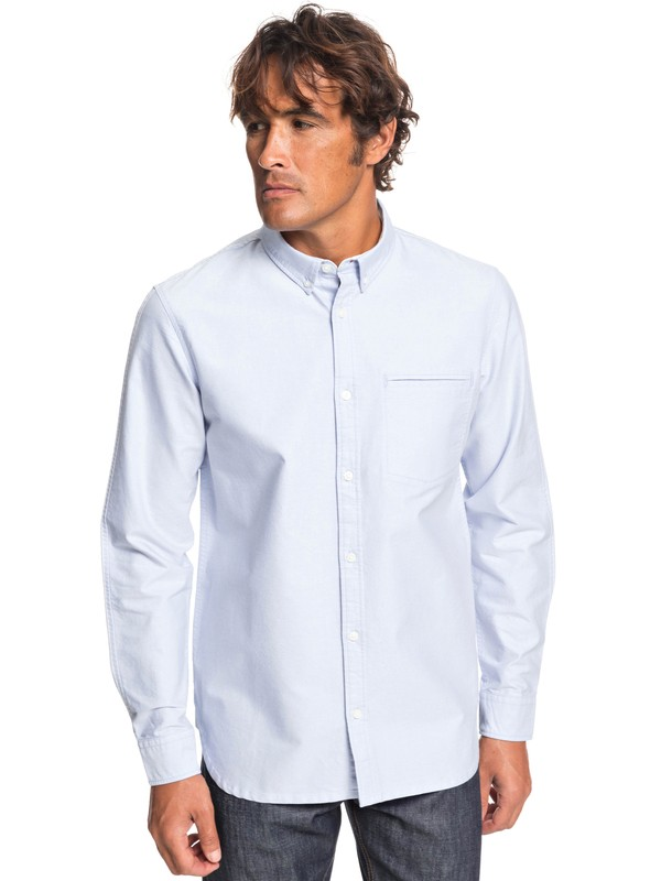 0 Рубашка с длинным рукавом Ostalamer Oxford Синий EQYWT03819 Quiksilver
