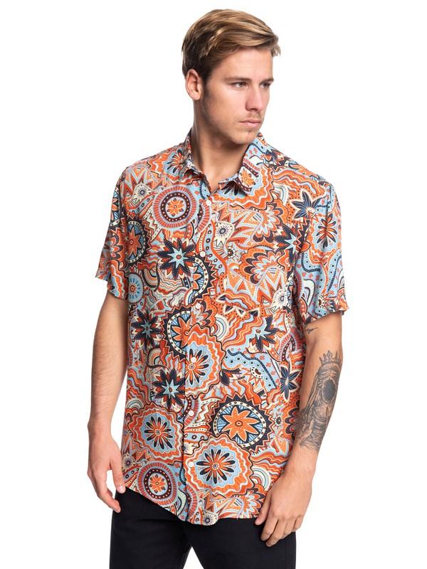 0 Dreamer Short Sleeve Shirt Orange EQYWT03823 Quiksilver