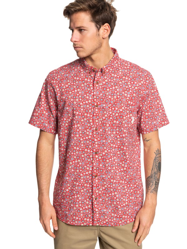 0 Ditsy Dreamer Short Sleeve Shirt Red EQYWT03827 Quiksilver