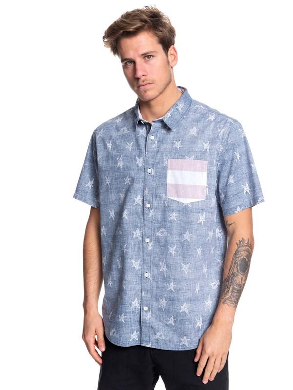 0 4th July Short Sleeve Shirt Blue EQYWT03834 Quiksilver