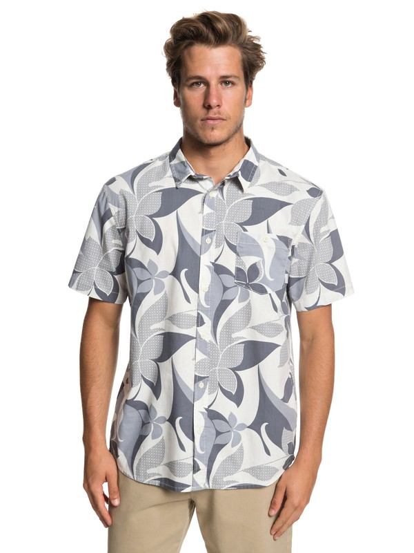 0 Cement Card Short Sleeve Shirt Black EQYWT03835 Quiksilver