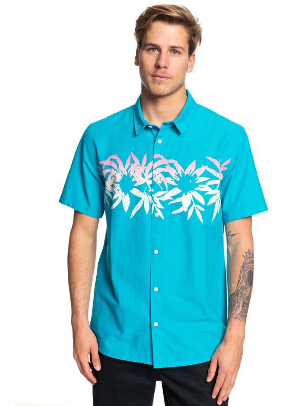 0 Choppa Short Sleeve Shirt Blue EQYWT03840 Quiksilver