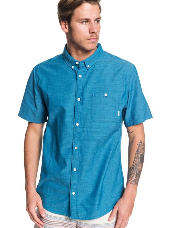 0 Waterfalls Short Sleeve Shirt Blue EQYWT03841 Quiksilver