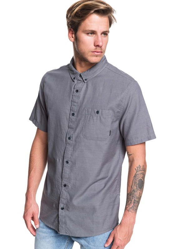 0 Waterfalls Short Sleeve Shirt Black EQYWT03841 Quiksilver