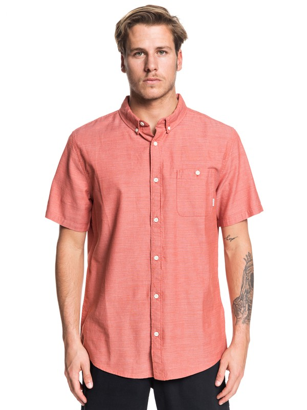 0 Waterfalls Short Sleeve Shirt Pink EQYWT03841 Quiksilver