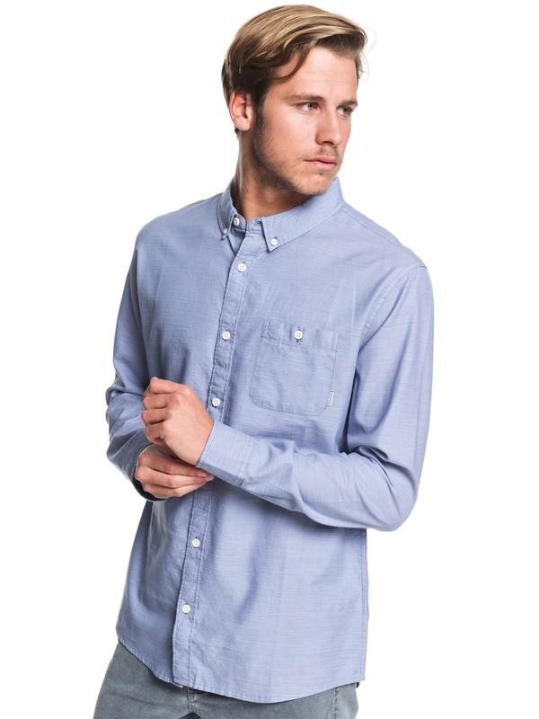 0 Waterfall Long Sleeve Shirt Blue EQYWT03844 Quiksilver