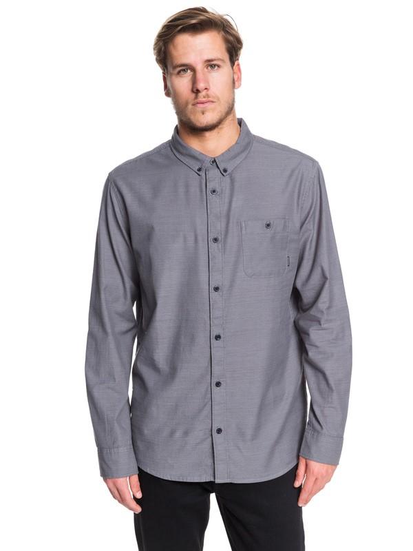 0 Waterfall - Camisa de Manga Larga para Hombre Negro EQYWT03844 Quiksilver