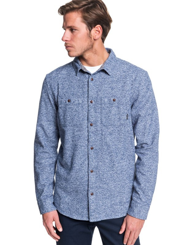 0 Wollemi Long Sleeve Shirt Blue EQYWT03845 Quiksilver