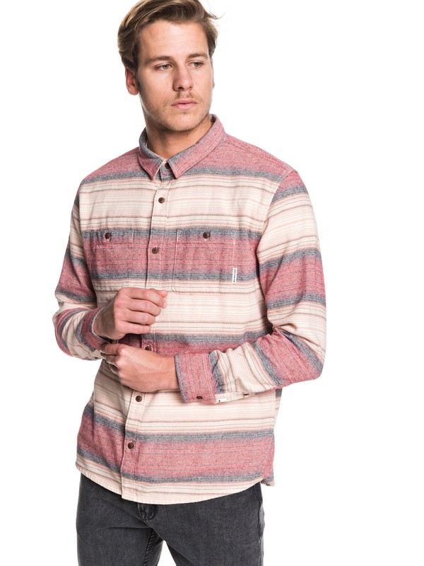 0 Inca Gold Stripe Long Sleeve Shirt Red EQYWT03846 Quiksilver