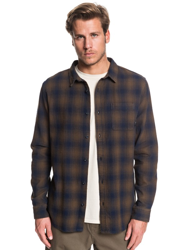 Inca Gold Check - Long Sleeve Shirt for Men  EQYWT03847