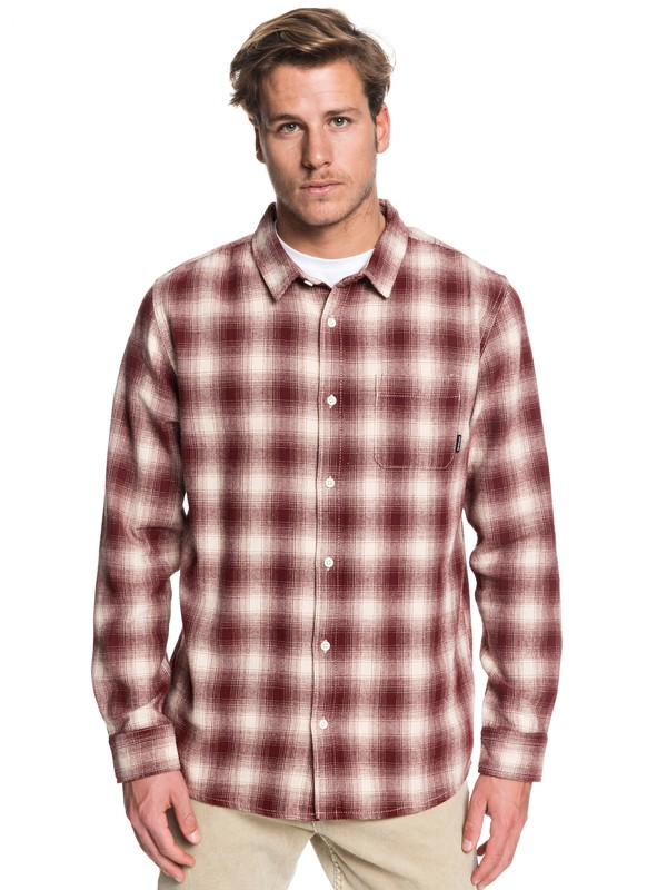 0 Inca Gold Check Long Sleeve Shirt Beige EQYWT03847 Quiksilver