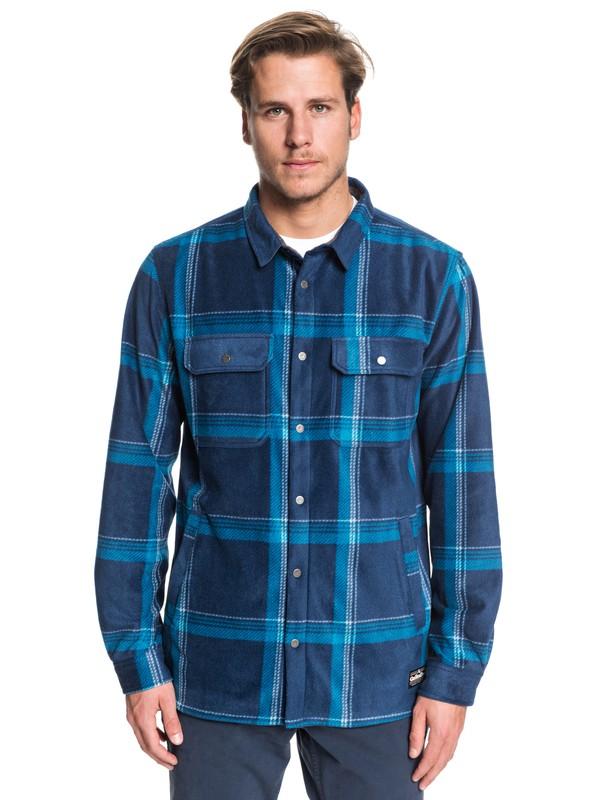 0 Surf Days Long Sleeve Polar Fleece Shirt Blue EQYWT03849 Quiksilver