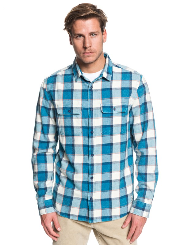 0 Mitta Tang Long Sleeve Shirt Blue EQYWT03851 Quiksilver