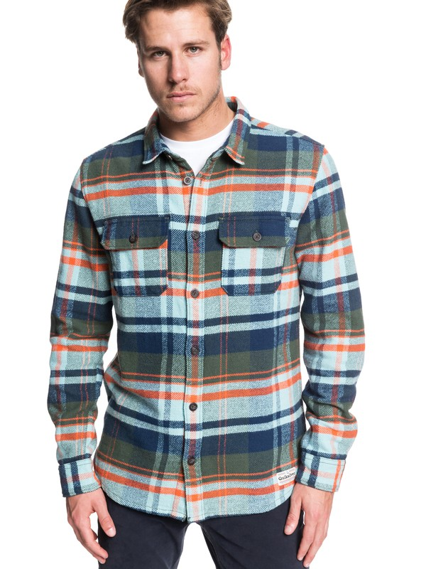 0 Howe Waters Long Sleeve Shirt Brown EQYWT03864 Quiksilver