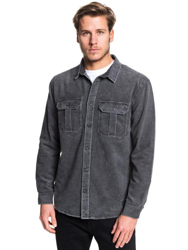 0 Sara Toga Long Sleeve Corduroy Shirt Black EQYWT03867 Quiksilver