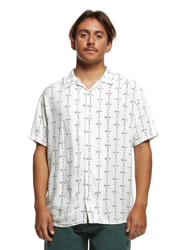 0 The Originals Short Sleeve Shirt White EQYWT03875 Quiksilver