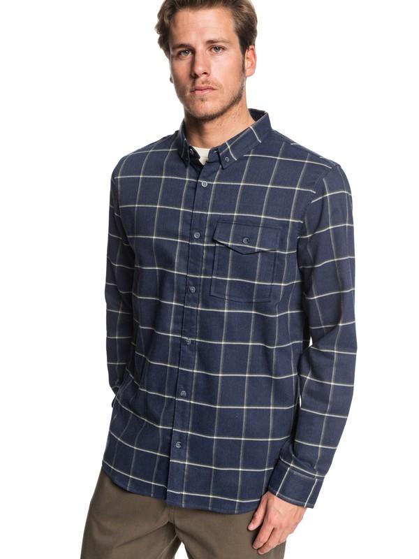 0 Toxic Blue Long Sleeve Shirt Black EQYWT03877 Quiksilver