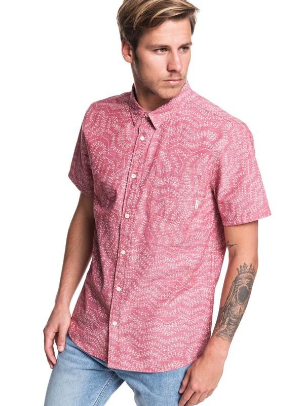 0 Golden Wattle Short Sleeve Shirt Red EQYWT03883 Quiksilver