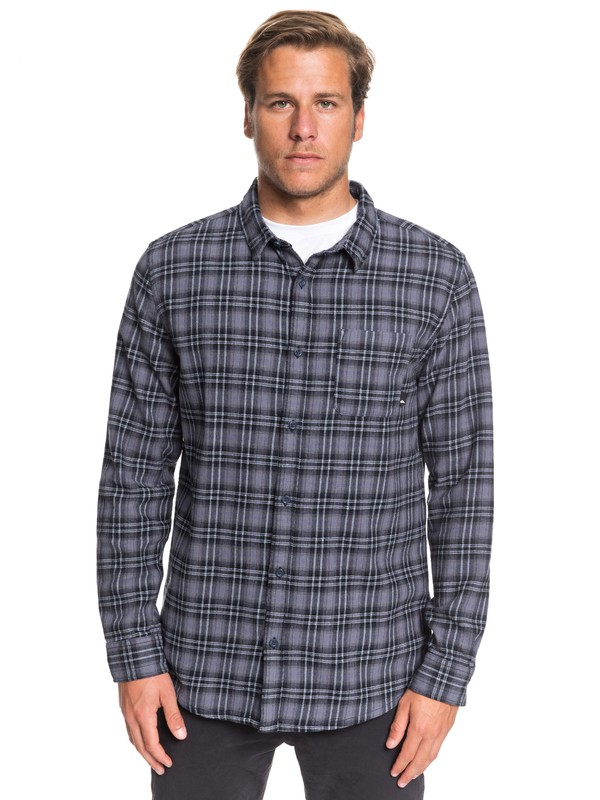 0 Inca Gold Check Long Sleeve Shirt Blue EQYWT03892 Quiksilver