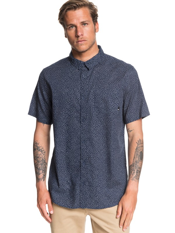 0 Minimo Short Sleeve Shirt Blue EQYWT03897 Quiksilver