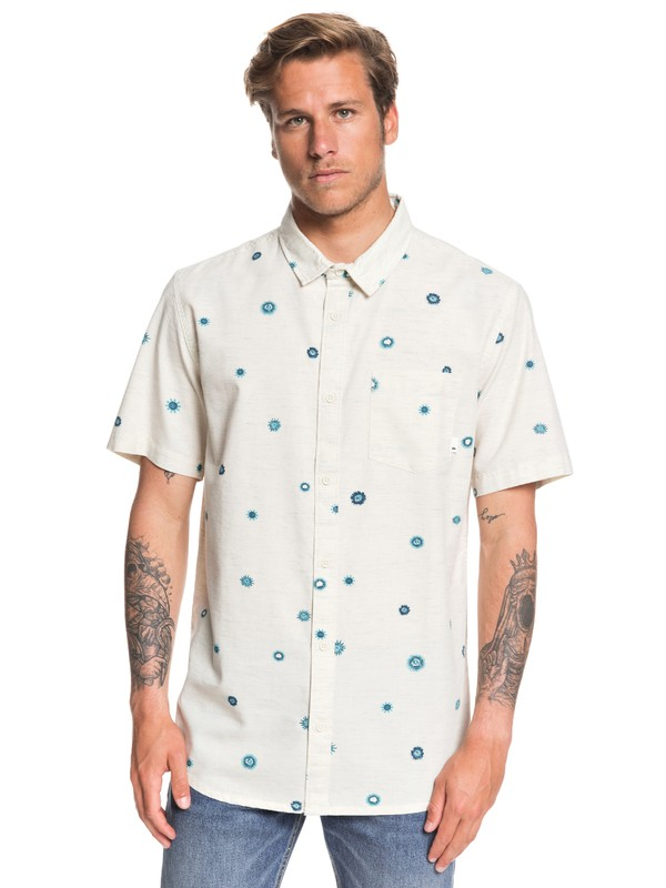 0 Faded Sun Short Sleeve Shirt White EQYWT03899 Quiksilver
