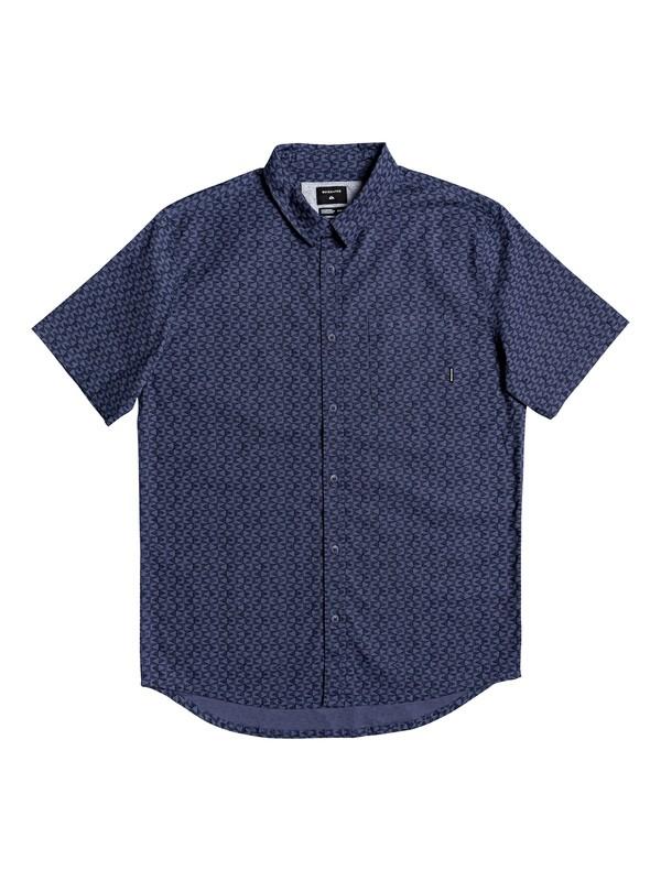 0 Geo Spot Short Sleeve Shirt Blue EQYWT03901 Quiksilver