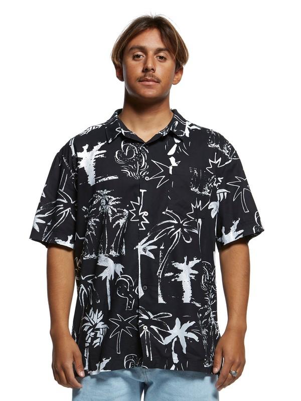 0 Jungle Fever Short Sleeve Shirt Black EQYWT03907 Quiksilver