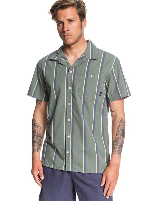 0 No Worries Mate Short Sleeve Shirt Green EQYWT03911 Quiksilver