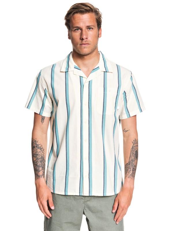0 No Worries Mate Short Sleeve Shirt White EQYWT03911 Quiksilver
