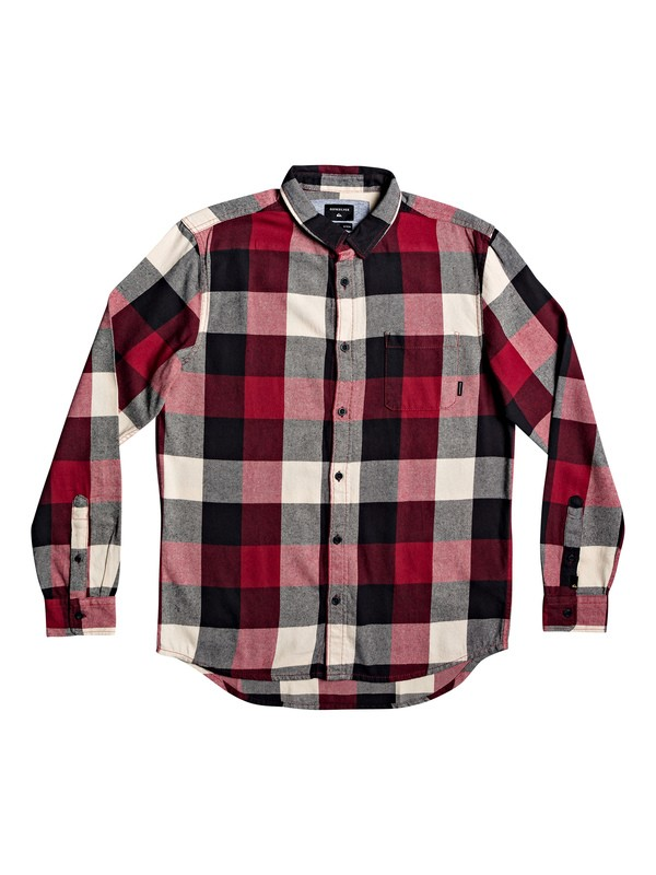 0 Motherfly Flannel Long Sleeve Shirt Red EQYWT03918 Quiksilver