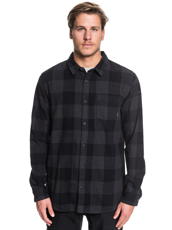 0 Motherfly Flannel - Long Sleeve Shirt Black EQYWT03918 Quiksilver