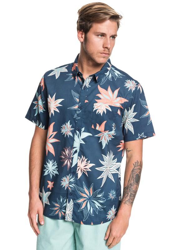 0 South Nights - Short Sleeve Shirt Azul EQYWT03923 Quiksilver