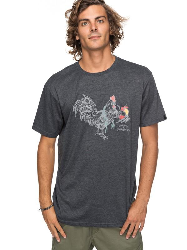 0 Heather Rooster Vibe - T-Shirt für Männer Schwarz EQYZT04740 Quiksilver