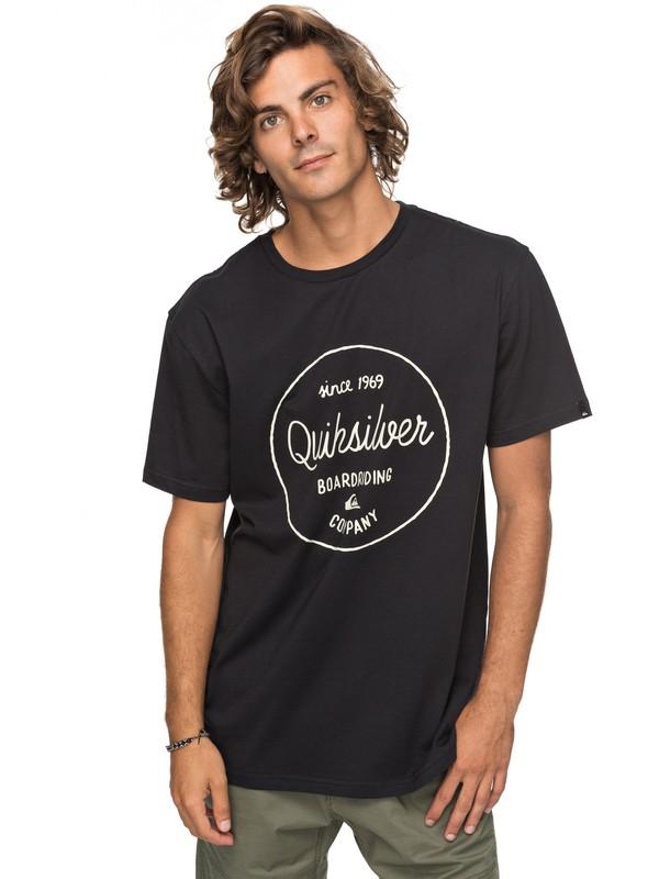 0 Classic Morning Slides - T-Shirt für Männer Schwarz EQYZT04774 Quiksilver