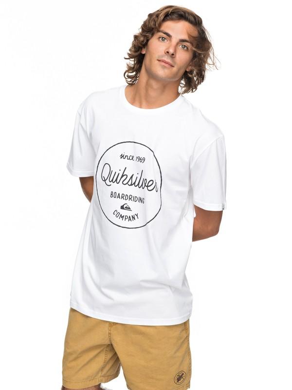 0 Classic Morning Slides - T-Shirt für Männer Weiss EQYZT04774 Quiksilver