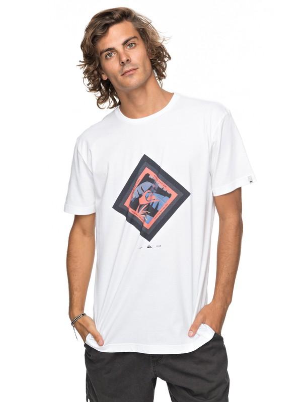 0 Classic Crimson Skyline - T-Shirt für Männer Weiss EQYZT04781 Quiksilver