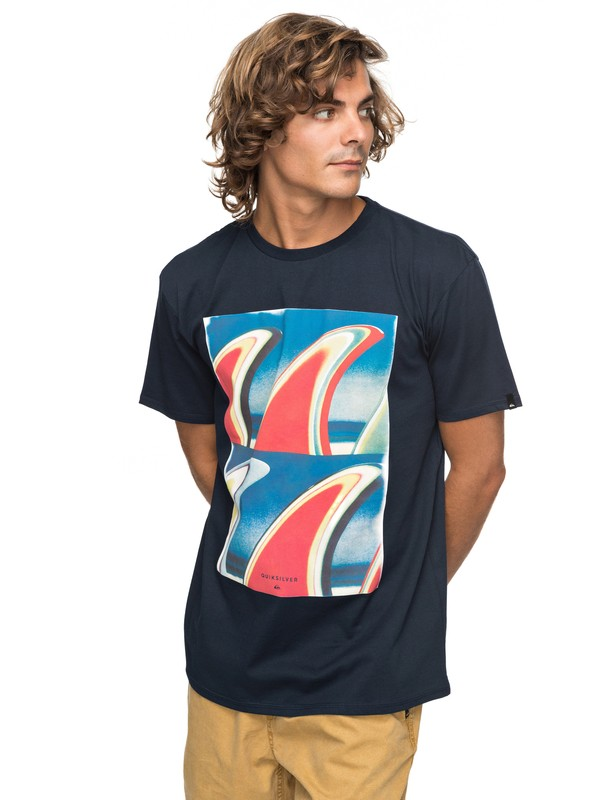 0 Classic Fin Fanatic - Camiseta para Hombre Azul EQYZT04896 Quiksilver