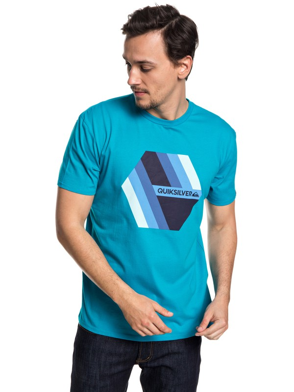 0 Retro Right - T-Shirt for Men Blue EQYZT04942 Quiksilver