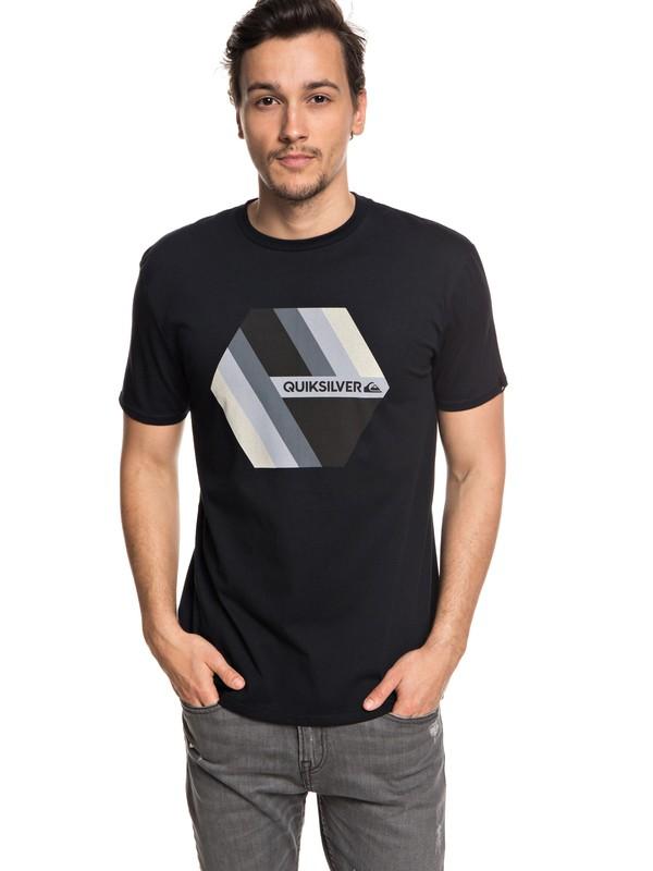 0 Retro Right - T-shirt col rond pour Homme Noir EQYZT04942 Quiksilver