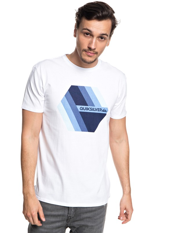 0 Retro Right - Camiseta para Hombre Blanco EQYZT04942 Quiksilver