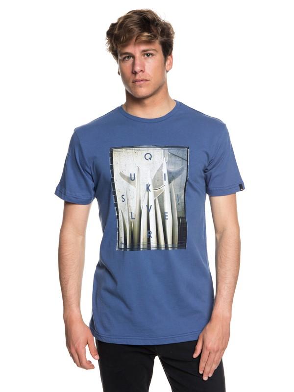 0 Quiver Central - Camiseta para Hombre Azul EQYZT04946 Quiksilver