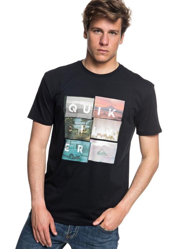 0 Local Motive - T-shirt col rond pour Homme Noir EQYZT04947 Quiksilver