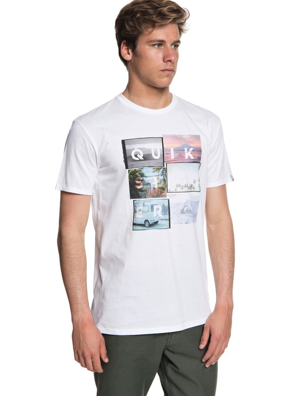 0 Local Motive - T-shirt col rond Blanc EQYZT04947 Quiksilver