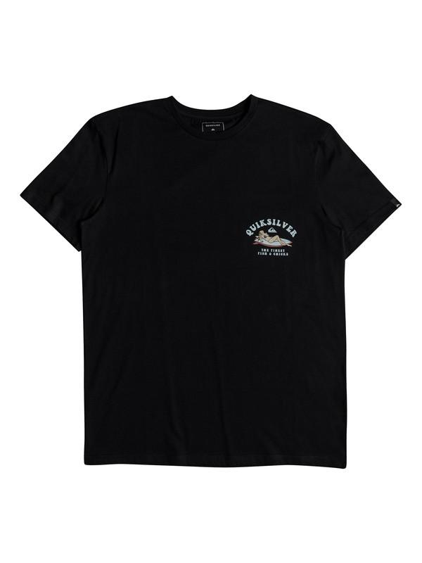 0 Fish And Chicks - T-shirt col rond pour Homme Noir EQYZT04953 Quiksilver