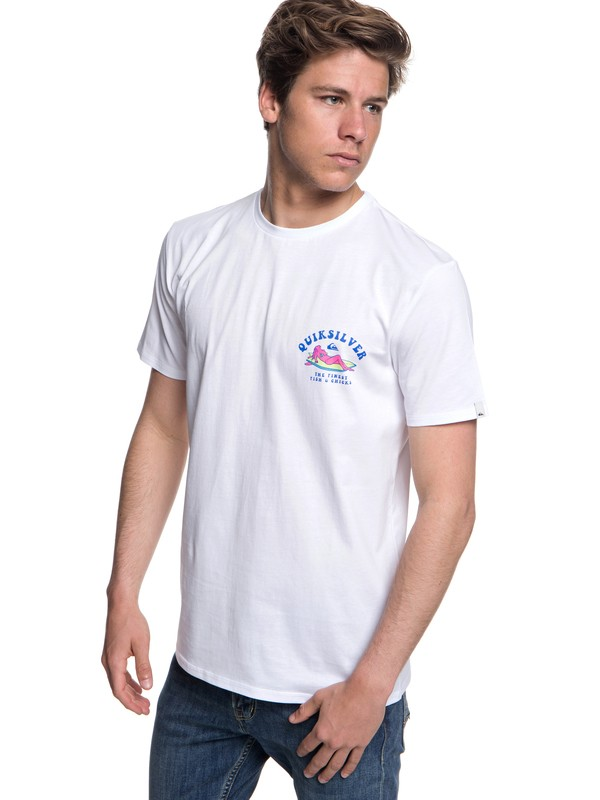0 Fish And Chicks - T-shirt col rond pour Homme Blanc EQYZT04953 Quiksilver