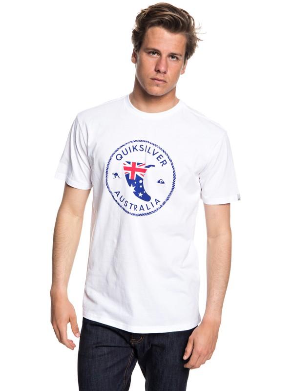 0 Oz Fin - T-shirt col rond pour Homme Blanc EQYZT04959 Quiksilver